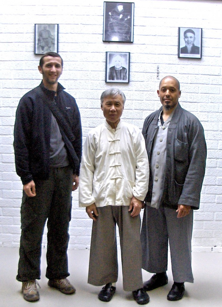 Ruud Vercammen together with Grandmaster T.Y Pang and Sifu Eleonora