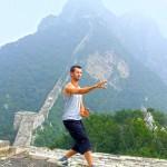 San ti shi op de Chinese muur